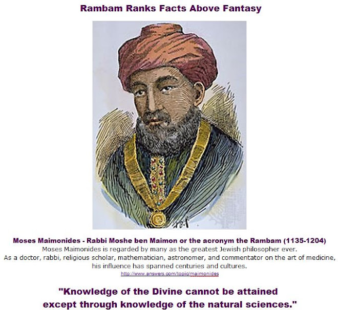 Rambam Ranks Facts Above Fantasy