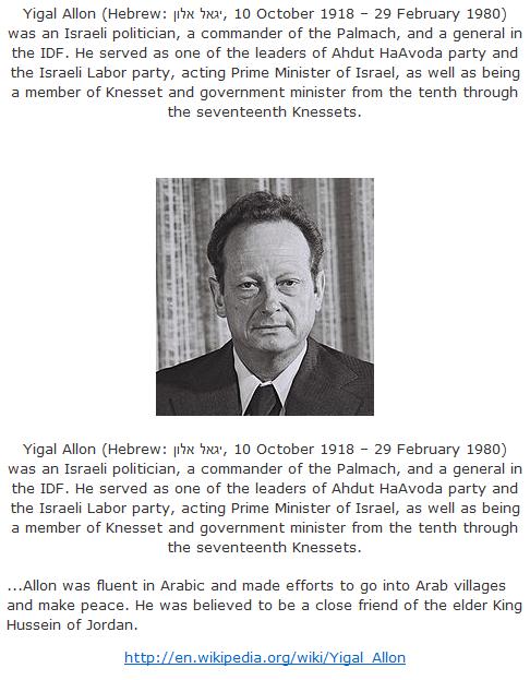 Allon was fluent in Arabic and made efforts to go into Arab villages and make peace.