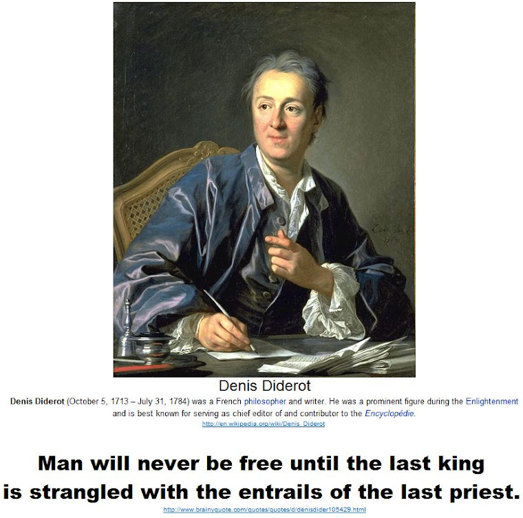 Man will never be free until