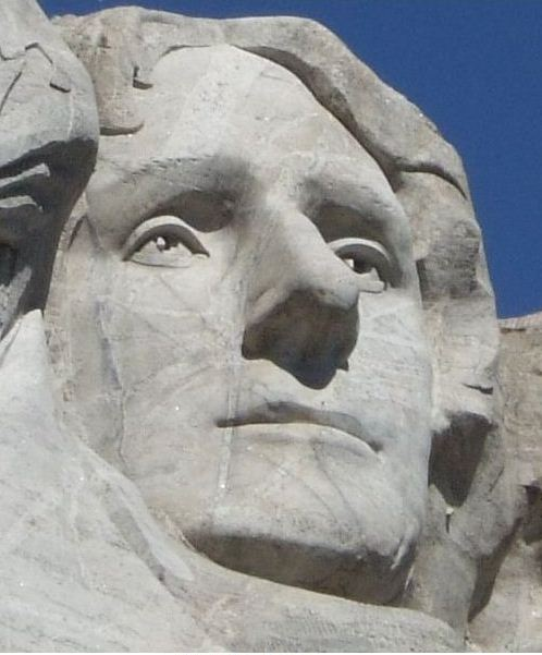 Jefferson's on mount Rushmore