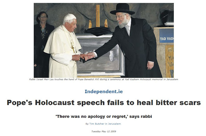 Pope's Holocaust speech fails to heal bitter scars
