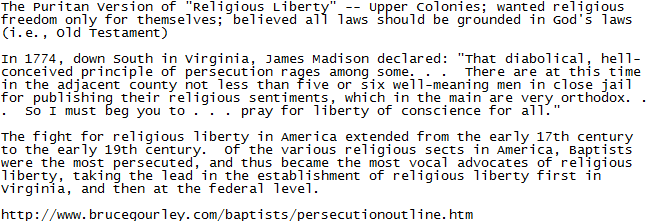 Religious freedom only for themselves