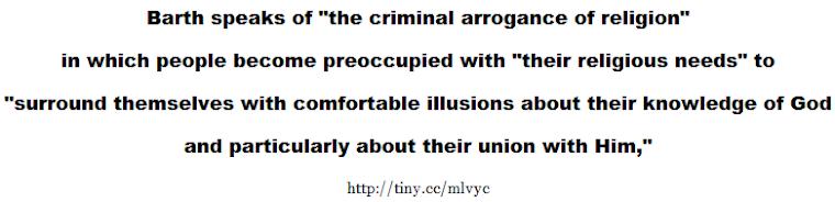 the criminal arrogance of religion
