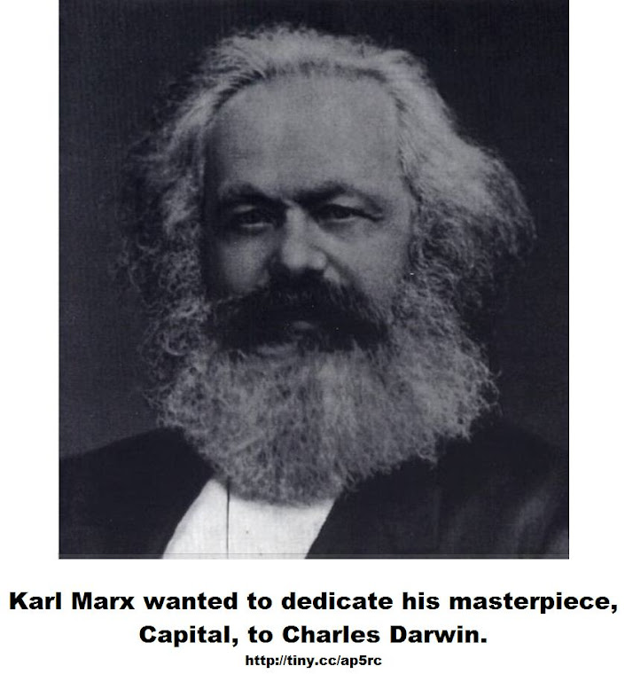 Karl Marx wanted to dedicate his masterpiece Capital, to Charles Darwin
