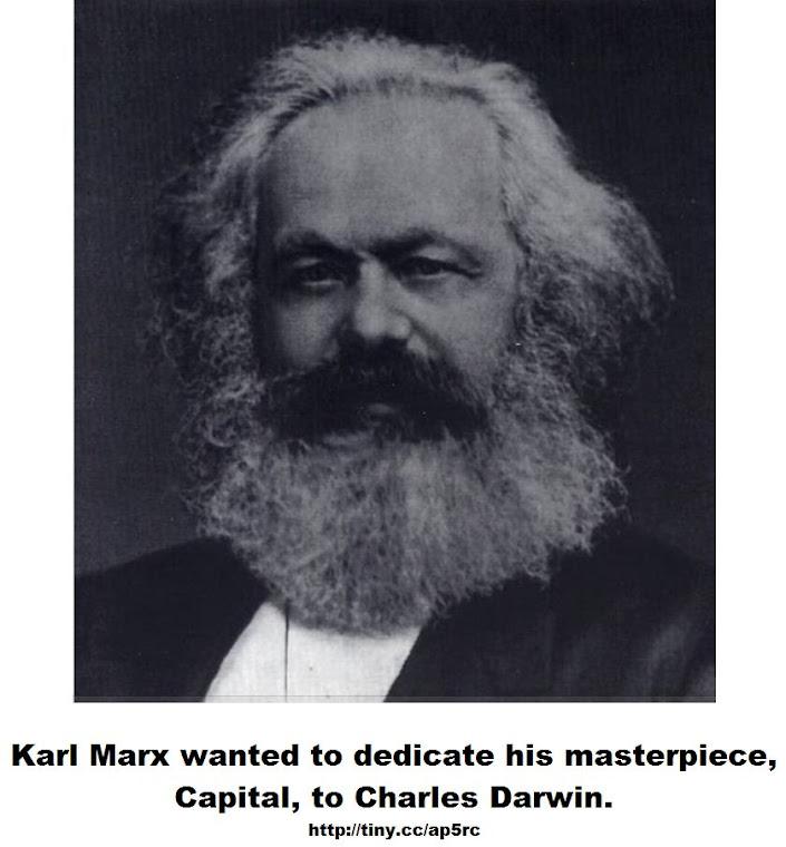 Karl Marx wanted to dedicate his masterpiece Capital, to Charles Darwin