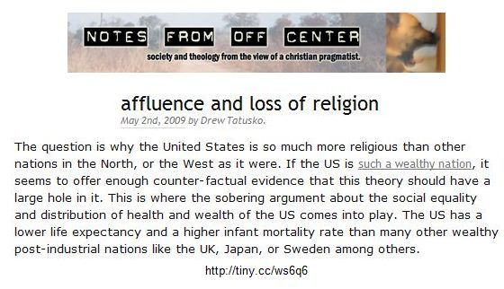 why the United States is so much more religious
