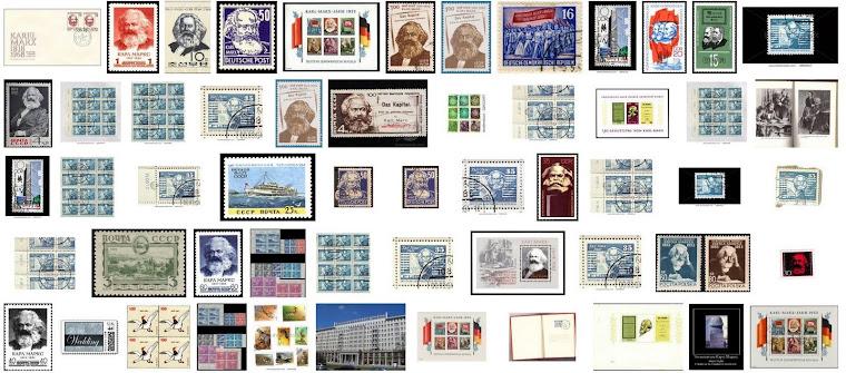 Postal stamps Karl Marx