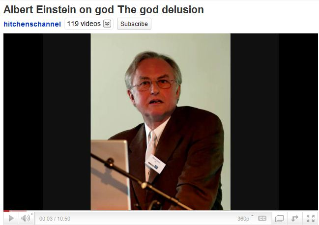 Albert Einstein on god The god delusion.