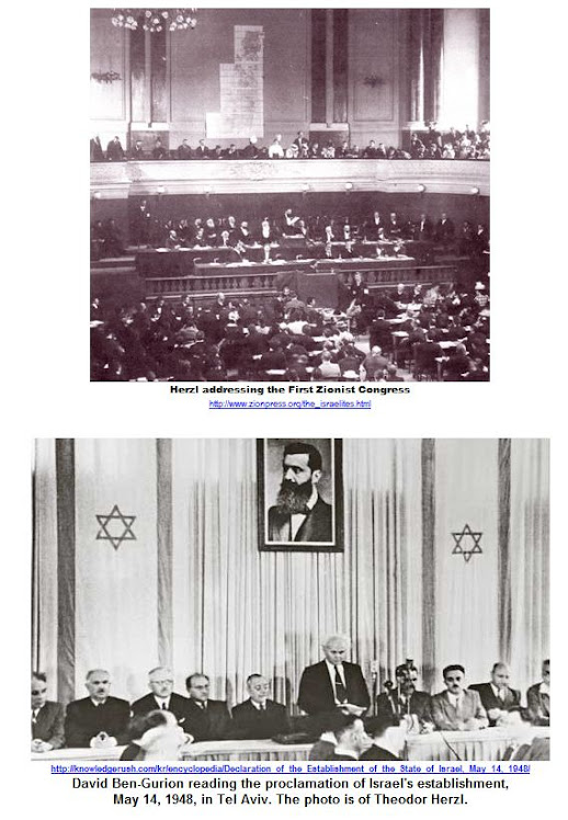 Herzl addressing the First Zionist Congress