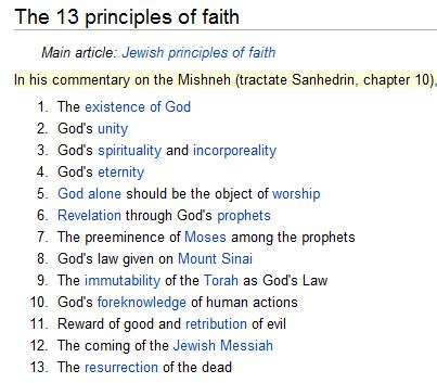 The 13 principles of faith