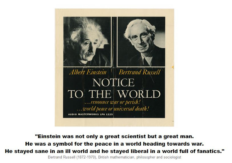 Einstein was a symbol for the peace in a world heading towards war.