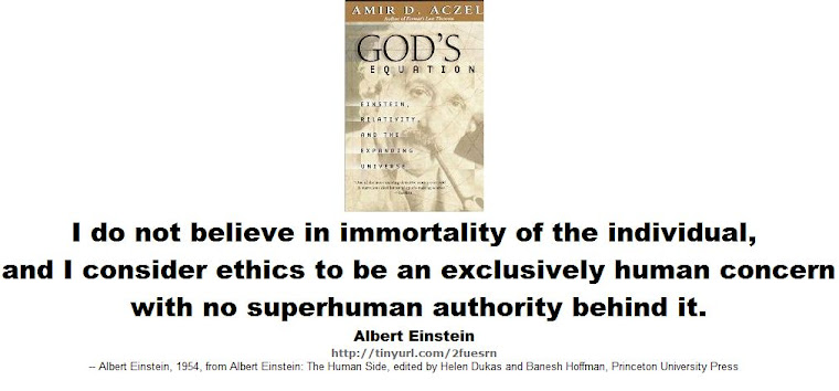 I do not believe in immortality of the individual