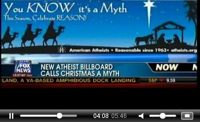 Atheist Billboard on Nativity Scene - 'You Know It's a Myth' This Season, Celebrate REASON