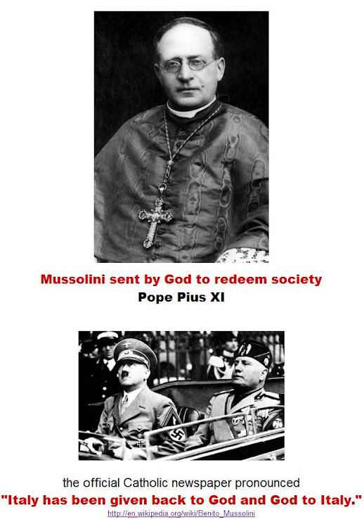 Mussolini sent by God to redeem society.