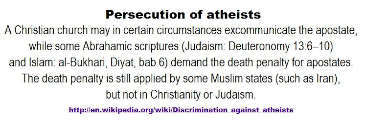 Persecution of atheists.
