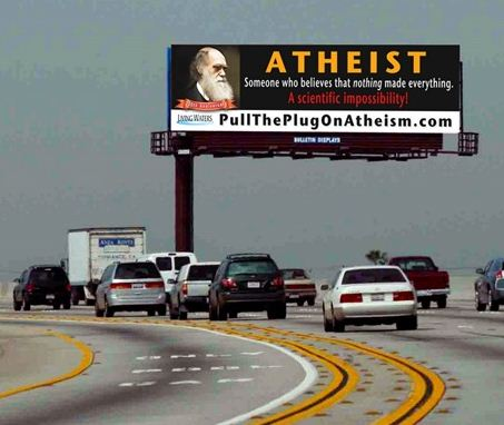 Pull the plug on atheism.