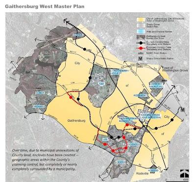 Gaithersburg City Limits Map Maryland