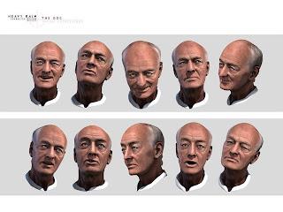 Heavy Rain Character Design: DOC Facial Expressions