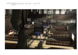 Heavy Rain Set Design Art Concept: Lexington Station Iced Set