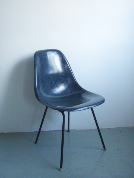 EAMES COBALT BLUE SHELL CHAIR