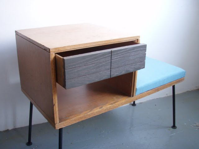 Severely Vintage: RAYMOND LOEWY FOR MENGEL FURNITURE   TELEHONE TABLE /  BENCH