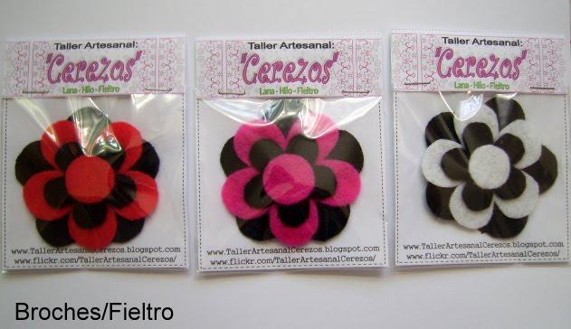 Con Fieltro y Algo Más: BROCHES Y LLAVEROS DE  - Imagenes Broches De Flores De Fieltro
