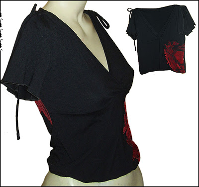 blusa feminina preta brechó
