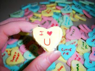 homemade conversation hearts candies