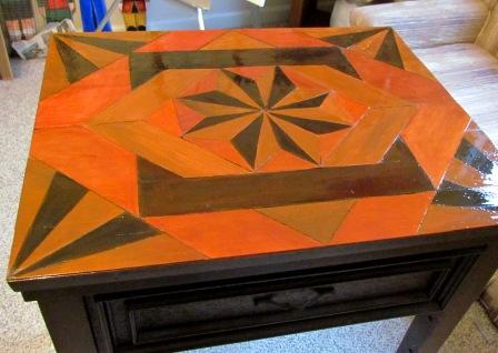 faux wood inlay