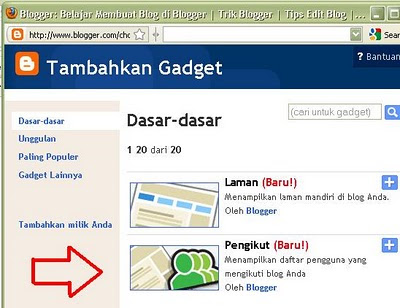 Gadget  Followers pada Blog
