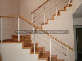 Barandas para escaleras en acero y madera fotos - Disenos de escaleras de madera para interiores ...