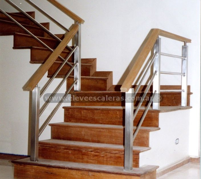 Barandas para escaleras en acero y madera fotos - Barandas de escaleras de madera ...