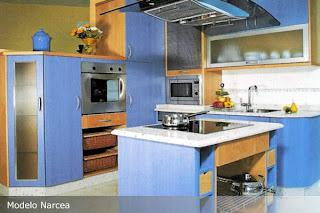 modelo kenia colores combinados cedro y blanco arte cocina