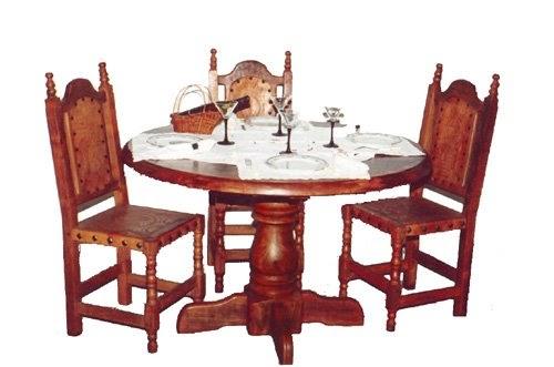 Comedores 3 algarrobo decoractual dise o y decoraci n - Mesa redonda 4 personas ...