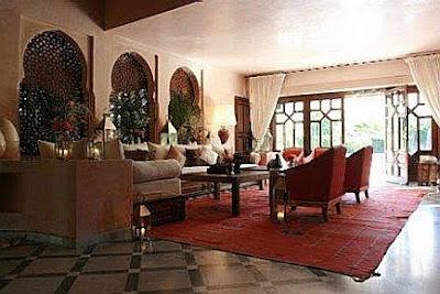 salones estilo marroqui muebles colores decoractual