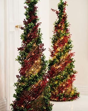 Arbol de navidad en forma de cono decoraci n navide a - Diseno de arboles de navidad ...