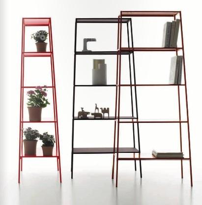 Biblioteca estanteria moderna de metal hogar - Estanteria para plantas ...