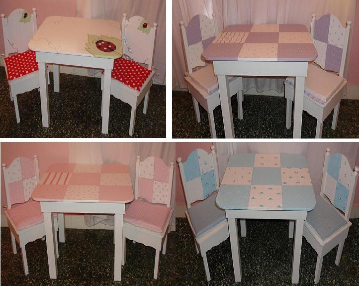 Mesas y sillas para los ni os decoraci n infantil - Mesa madera infantil ...