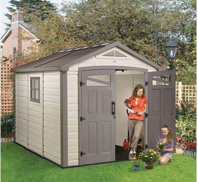 Caseta para jard n almacenaje espacios exteriores for Galpon de madera para jardin