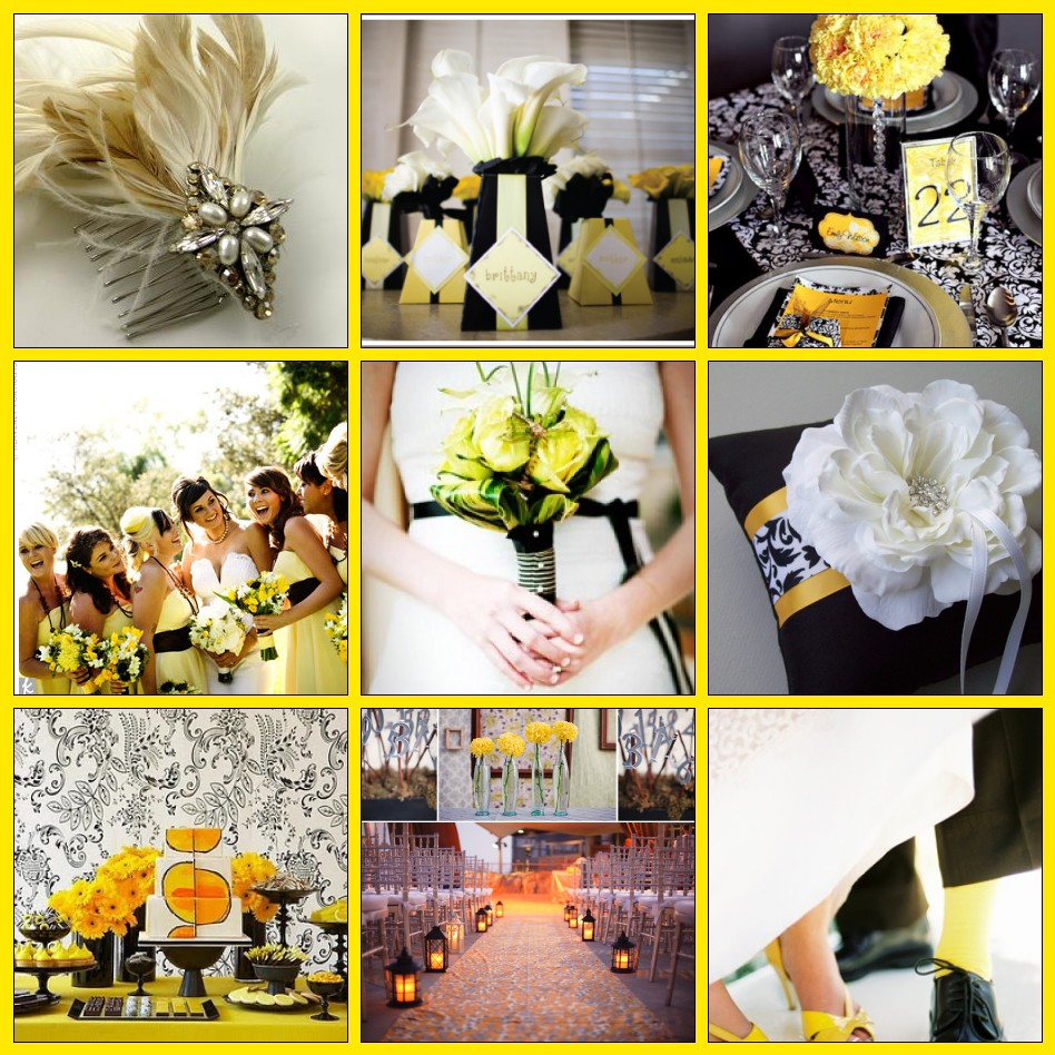 Yellow amp Black Wedding Theme On Pinterest Black And Gray