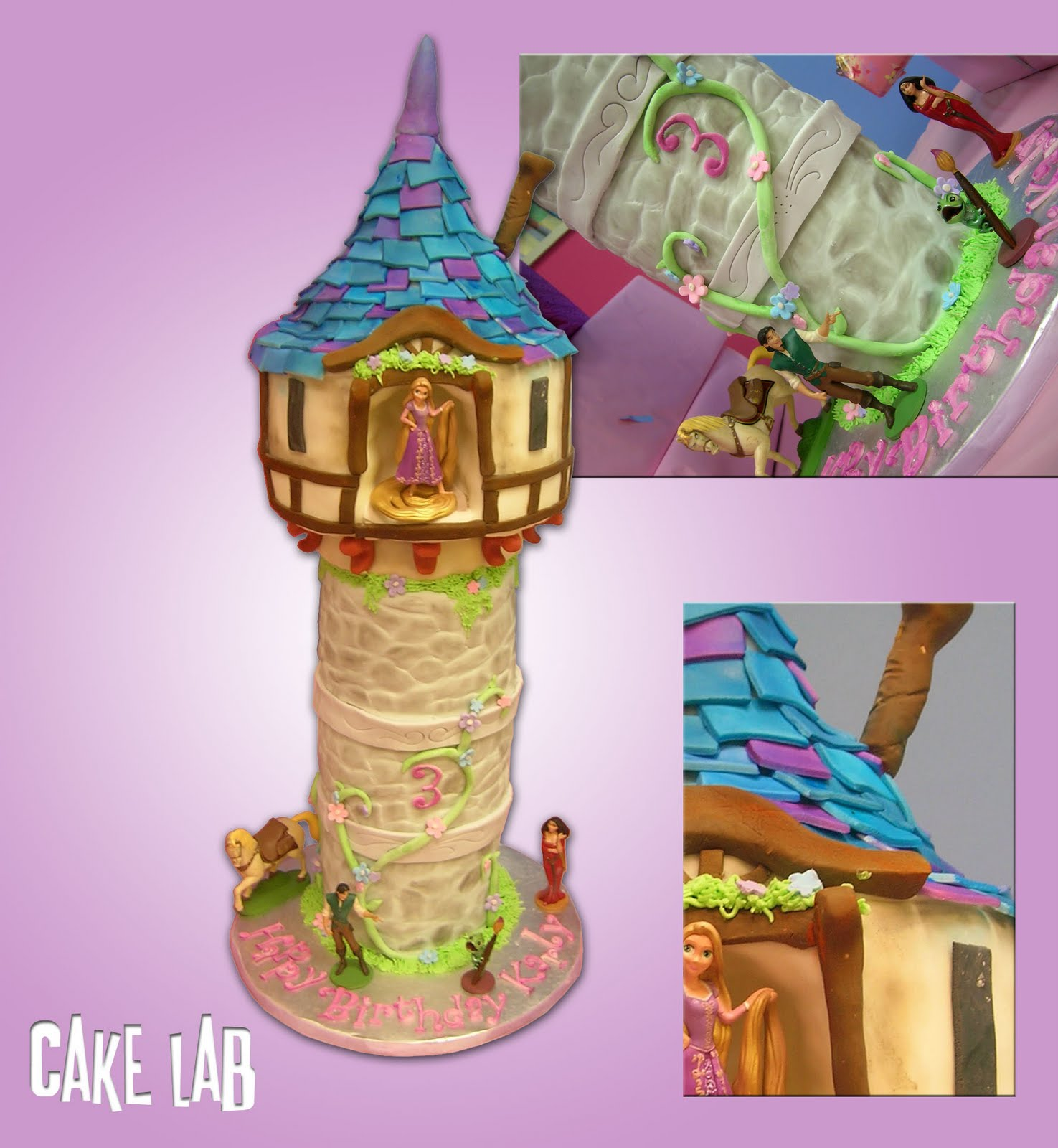 Tangled Tower Cake