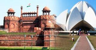 Delhi Day Tour, Lal Quila, Lotus Temple