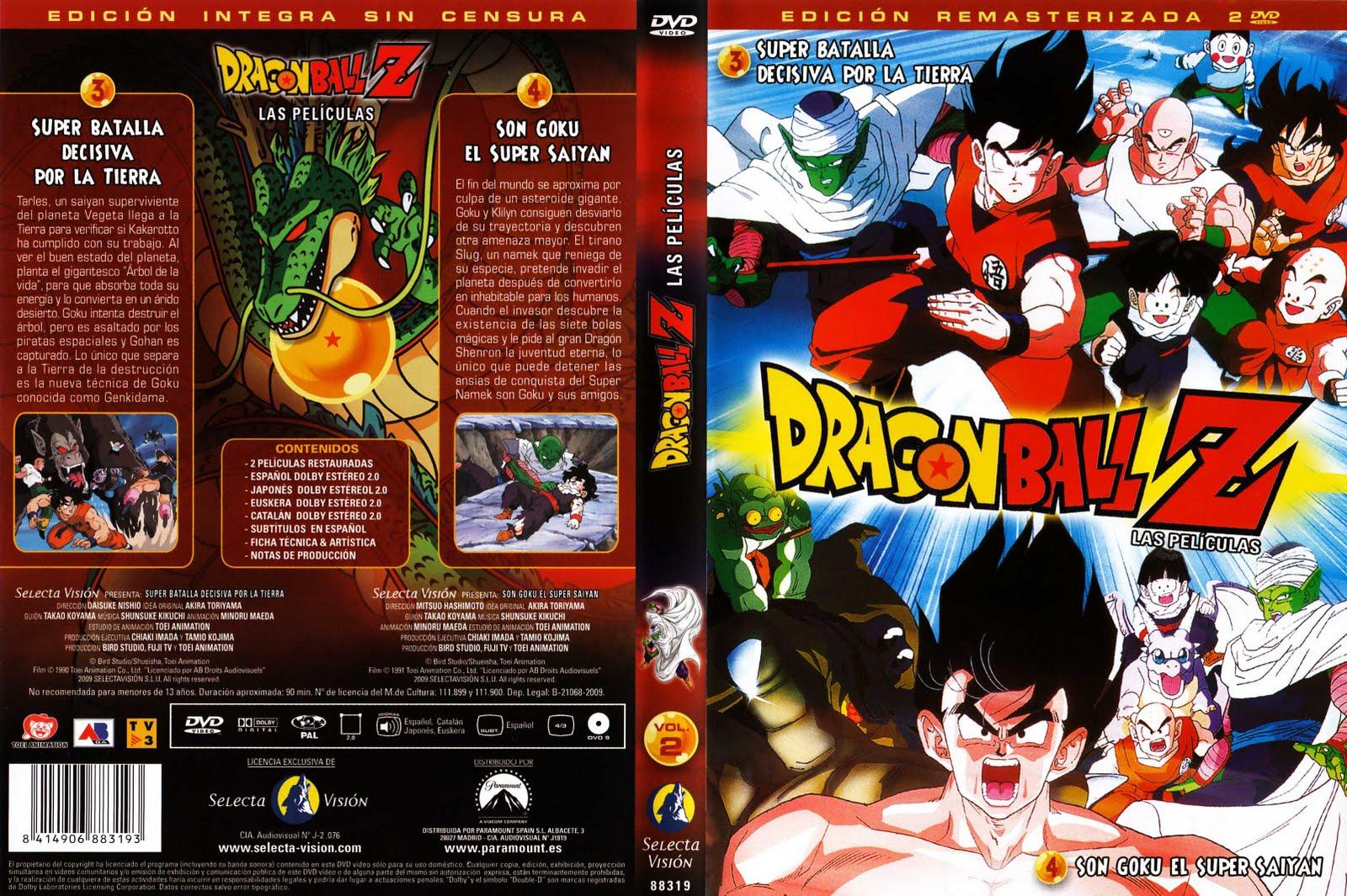 Etiquetas: Caratulas DVD Dragon Ball Z Las Peliculas Selecta Vision