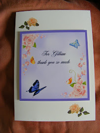 Gillians thank you card front