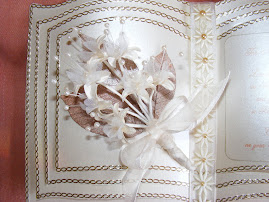 close up of Pearl wedding card