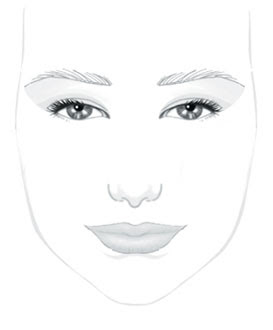 face makeup template