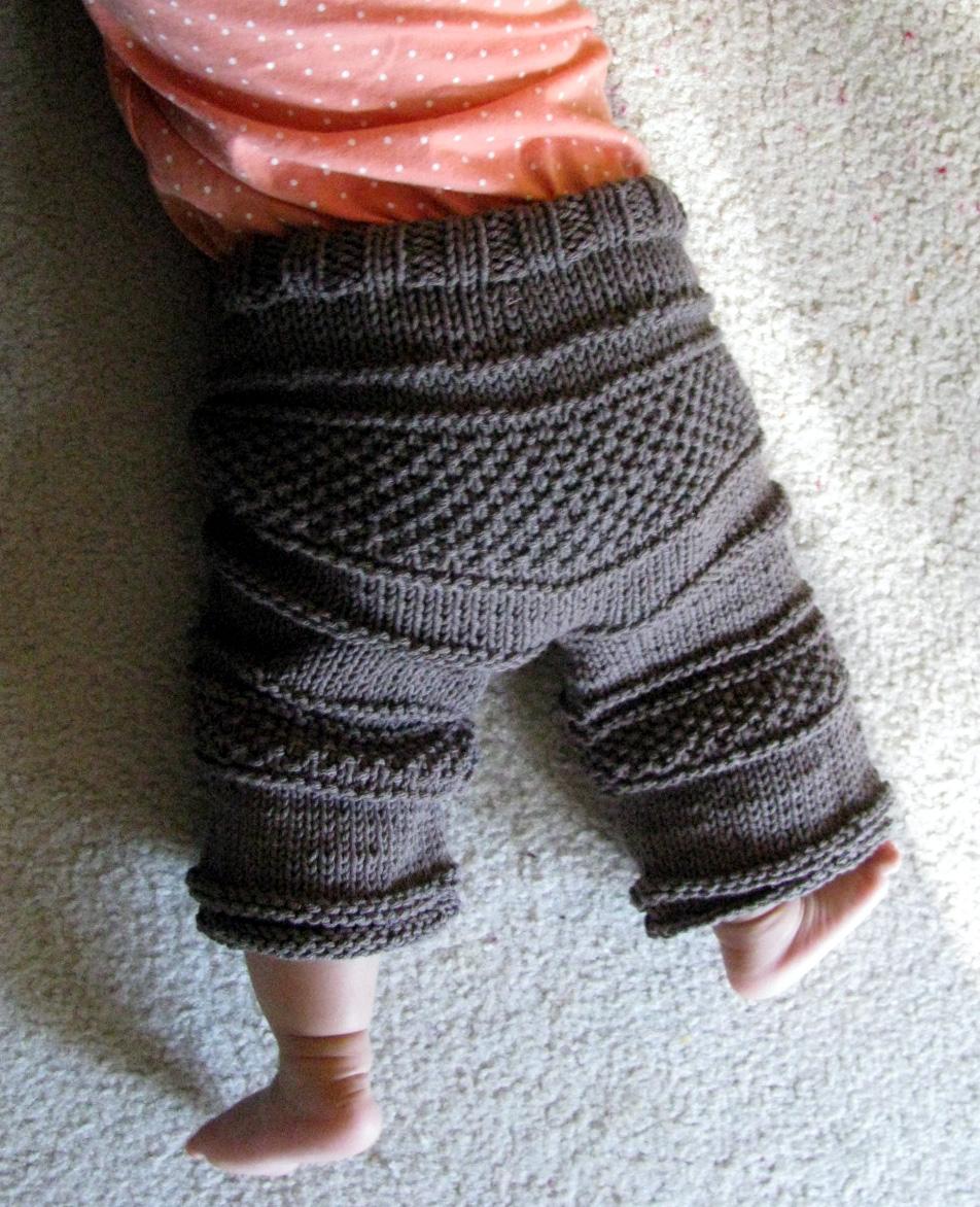 вязаные джинсы для детей с описанием и схемами спицами