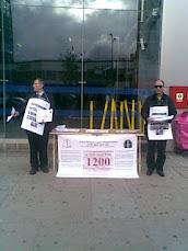 وقفات تضامنية مع اسر شهداء ابوسليم في غرب لندن 30اكتوبر 2010