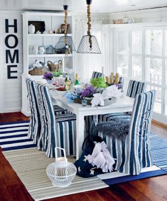 lacivert beyaz+yemek+odas%C4%B1 Dekorasyonda mavi beyaz