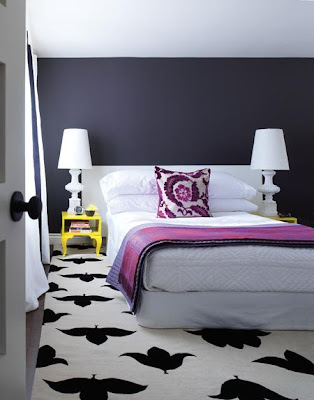 yatakodasC4B12eklektik - Renk renk yatak odalar�